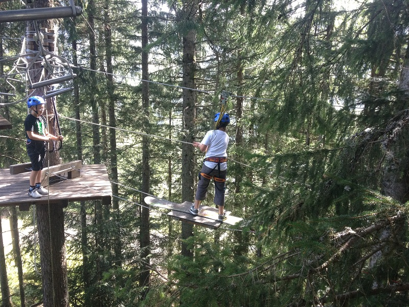 Rope and zipwire course
